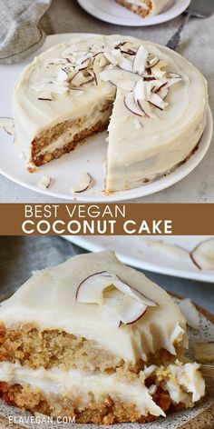 Sugar Free Desserts, Vegan Dessert Recipes, Baking Recipes, Cake Recipes, Best Vegan Desserts, Vegetarian Desserts, Vegan Treats, Vegan Foods, Vegan Dishes