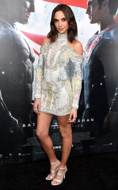 Gal Gadot from The Best of the Red Carpet  The actress works some superhero style in a stunning Giambattista Valli shoulder cut-out dress at the Batman v Superman premiere.