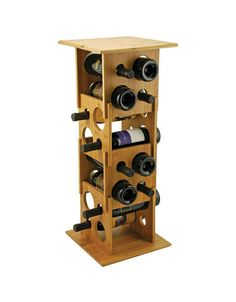 Buy the True Fabrications Deco Tower Stackable Bamboo Wine Rack for a capacity unique and customizable wine rack made of natural and durable bamboo. Small Wine Racks, Rustic Wine Racks, Stackable Wine Racks, Wine Making Process, Wholesale Wine, Wine Rack Storage, Cellar Design, Wine Collection, Wine And Beer