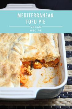 Vegan Mediterranean Tofu Pie + EZ Tofu Press Review
