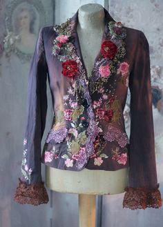 Coquette jacket ornate festive jacket bohemian by FleursBoheme