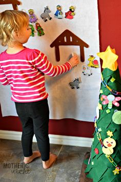 Felt Nativity Wall Christmas craft project for toddlers
