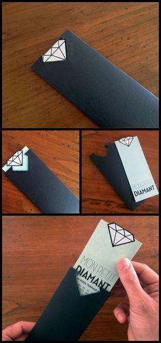 Black diamond envelope gift designed by Dezpixels Studio