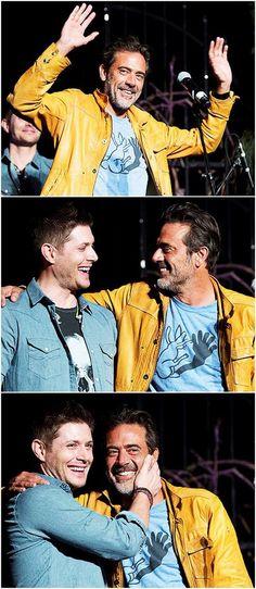 Jeffrey Dean Morgan & Jensen Ackles || Supernatural Cast