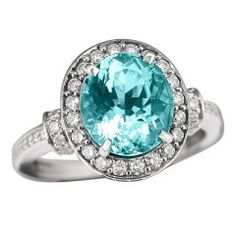 Oval Paraiba Tourmaline Ring.... I would say yes if I saw this ring in the box ;)