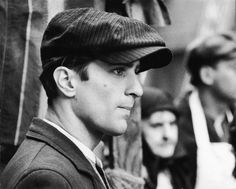 """Godfather Part II (1974): Profile headshot of American actor Robert De Niro in a still from director Francis Ford Coppola's film, """"The Godfather: Part II,"""" based on the novel by Mario Puzo. (Photo by Paramount Pictures/Getty Images)"""