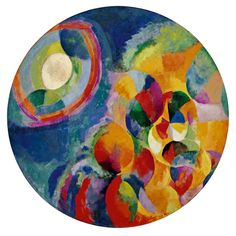 MoMA   Inventing Abstraction   Robert Delaunay   Soleil, lune, simultané 2 (Sun, Moon, Simultaneous 2). Paris 1913 (dated on painting 1912)
