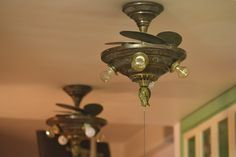 Ornate brass ceiling fan Antique Ceiling Fans, Brass Ceiling Fan, Vintage Fans, Electric Fan, Antiques, Home Decor, Antiquities, Antique, Decoration Home