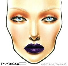 Metallic orange blown out eyes and bold deep purple lip. Editorial high fashion ethereal face chart, strobing, really warm cheeks. Orange contrasts with the blue of the irises. #mac #facechart #makeup #beauty #facechartinspiration #facechartideas #macfacechart #makeupartist #mua #makeupschool #makeupcourse #makeuplook #makeupinspiration #editorial #metallic #purplelip #boldlip #fashionshow #model