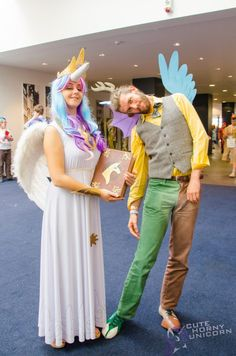 Female Discord Cosplay | Princess Celestia and Discord - BUCK 2014