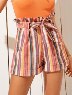 To find out about the Striped Belted Paperbag Shorts at - part of our latest Trends Outfit For You ready to shop online today! Source by mylovelyoutfits shorts Short Outfits, Summer Outfits, Cute Outfits, Summer Shorts, Summer Clothes, Paperbag Hose, Fashion News, Fashion Outfits, Ootd Fashion