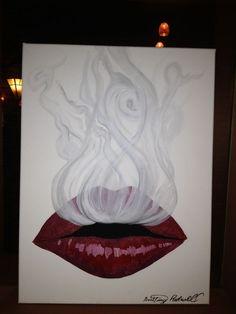 woman blowing smoke drawing - Google Search