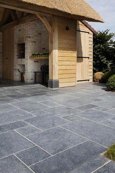 Natural Stone by Stonewest Green Terrace, Terrace Garden Design, Pebble Tile Shower, Terrace Tiles, Terrasse Design, Pergola, Swimming Pool Landscaping, Garden Steps, Paving Stones