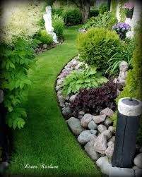 Imagini pentru curved garden bed with green and white