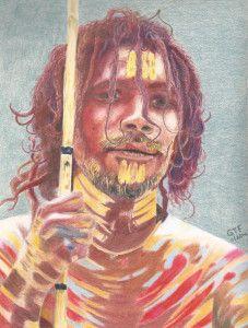 Aborigine Tribesman by Geoff Fielding