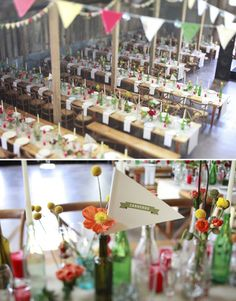 Vintage Carnival Wedding Reception