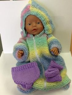 Baby Doll Sleeping Bag by Wynona O'neil All in one, zip up front sleeping bag to suit a doll in the size around 36 - 20 cm (14 1/2 - 16 inch) with knickers pattern also.