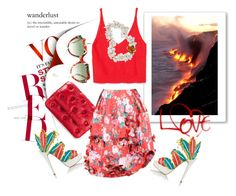"""""""Color of Fashion: Hawaiian Lava"""" by harperleo ❤ liked on Polyvore"""