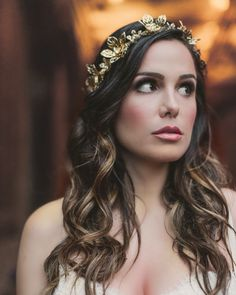 Beautiful headpiece by Lindsey Marie, makeup by Jessica Lauren Makeup, Hair by Tiffany Joy Designs