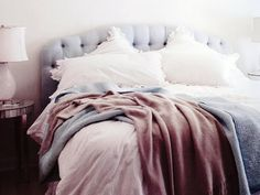 This bed is so inviting.  I feel like I could just plop right into it and stay there for hours.
