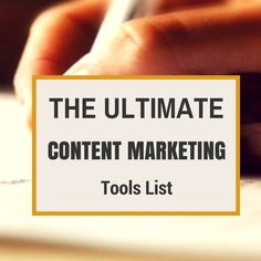 Awesome resource ==>The Ultimate Content Marketing Tools List from @Kim Garst