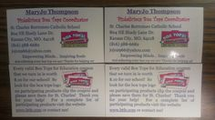 Want a fun way to spread the word about Box Tops for your school and encourage people who have orphan box tops to find them a home at your school?  Make business cards!