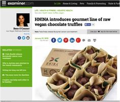 Another great review, this time from the #Examiner.  Check it out!   #DarkChocolate #RawFoods  http://www.examiner.com/article/hnina-introduces-gourmet-line-of-raw-vegan-chocolate-truffles