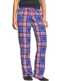 XS or S - Blue Plaid or any other cool colors - none that are mostly whites Women's Printed Flannel PJ Pants | Old Navy
