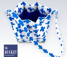 Canvas Bucket Bag with Drawcord Top and Two-Piece Snap Strap | Sew4Home