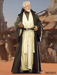 Obi-Wan Kenobi - Star Wars - Alec-Guiness by on DeviantArt Star Wars Film, Star Wars Jedi, Star Wars Art, Star Trek, Jedi Costume, Alec Guinness, Star Wars Personajes, Galactic Republic, Star Wars Costumes