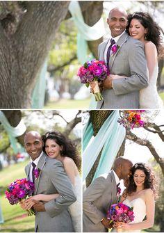 via StyleUnveiled.com / Stephanie Hogue Photography / Vintage Broach Wedding / Jewel Tones