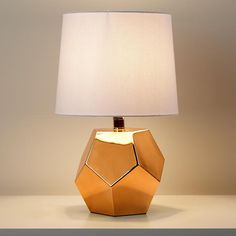 Kids Lighting: Gold Geometric Lamp Base | The Land of Nod