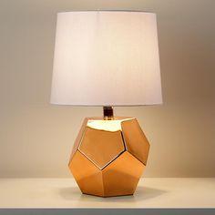 Kids Lighting: Gold Geometric Lamp Base | The Land of Nod
