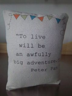 Peter Pan throw pillow book pillow new baby gift gender neutral nursery decor