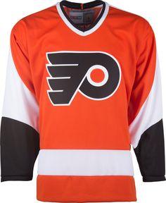 Philadelphia Flyers CCM Vintage 1974 Orange Replica NHL Hockey Jersey  Hockey Sweater 4f721b3fb