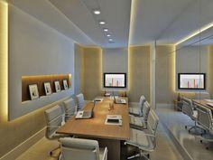 Perspectiva ilustrada sala de reunião