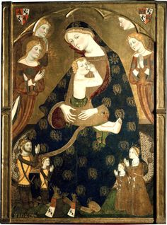 "I want a block for printing like on her mantle ""Virgen de Tobed"" by Jaume Serra, c. 1359-62"