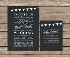 Chalkboard Wedding Invitations | Chalkboard Wedding Invitation | Stationery