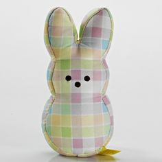 BABY PLUSH PEEPS PLAID BUNNY courtesy the Peeps online store!