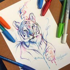 278- Pen Tiger by Lucky978 on DeviantArt