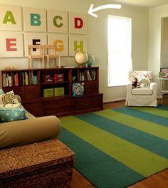 wall art for basement playroom?