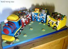 Train Cake 3rd Birthday Cakes, Trains Birthday Party, Third Birthday, Boy Birthday, Birthday Ideas, Novelty Cakes, Creative Cakes, Baby Shower Cakes, Party Cakes