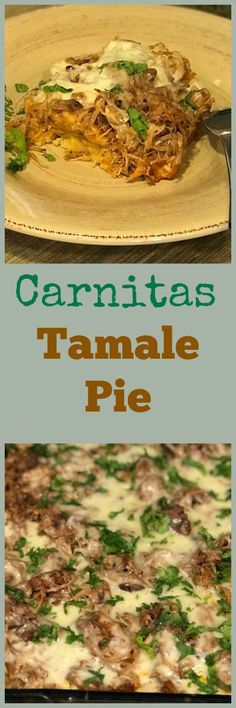 Making tamales takes time and sometimes we just don't have the time. With this Carnitas tamale pie recipe, you only need about an hour of that precious time and we have the perfect comfort food for dinner made with leftover carnitas Tamales, Mexican Dishes, Mexican Food Recipes, Dinner Recipes, Ethnic Recipes, Dinner Ideas, Mexican Meals, Brunch Ideas, Drink Recipes