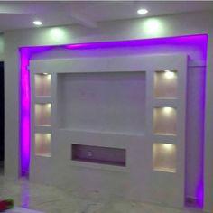 25 Popular Custom Gypsum Board TV Units - Decor Units - Food and drink Lcd Wall Design, Bedroom False Ceiling Design, Tv Unit Decor, Tv Wall Decor, Wall Tv, Modern Recessed Lighting, Modern Tv Wall Units, Tv Unit Design, Gypsum