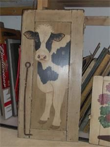 Amish Made Cow Painting