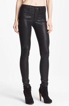 Coated denim I just got a dope pair of Citizens for humanity leather jeans from nordstrom.. Great wardrobe investment