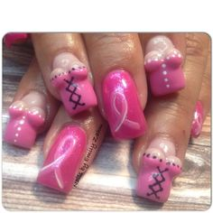 T Cancer Nail Art Nails October Cute Y