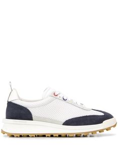 $630.0. THOM BROWNE Sneaker Tech Suede Trimmed Sneakers #thombrowne #sneaker #sport #activewear #suede #shoes