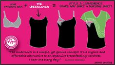Use your own maternity bra and tops plus the Undercover Mama to make any shirt a nursing shirt!