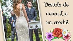 Versão destros: Vestido de noiva Lis em crochê tam M ( 2° parte ) # Elis...